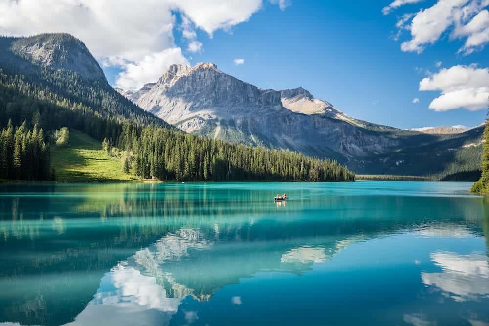 Emerald Lake in Yoho National Park BC