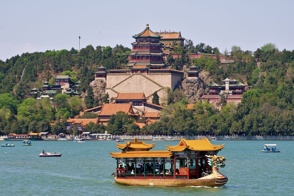 Ship in the lake of Summer Palace Beijing