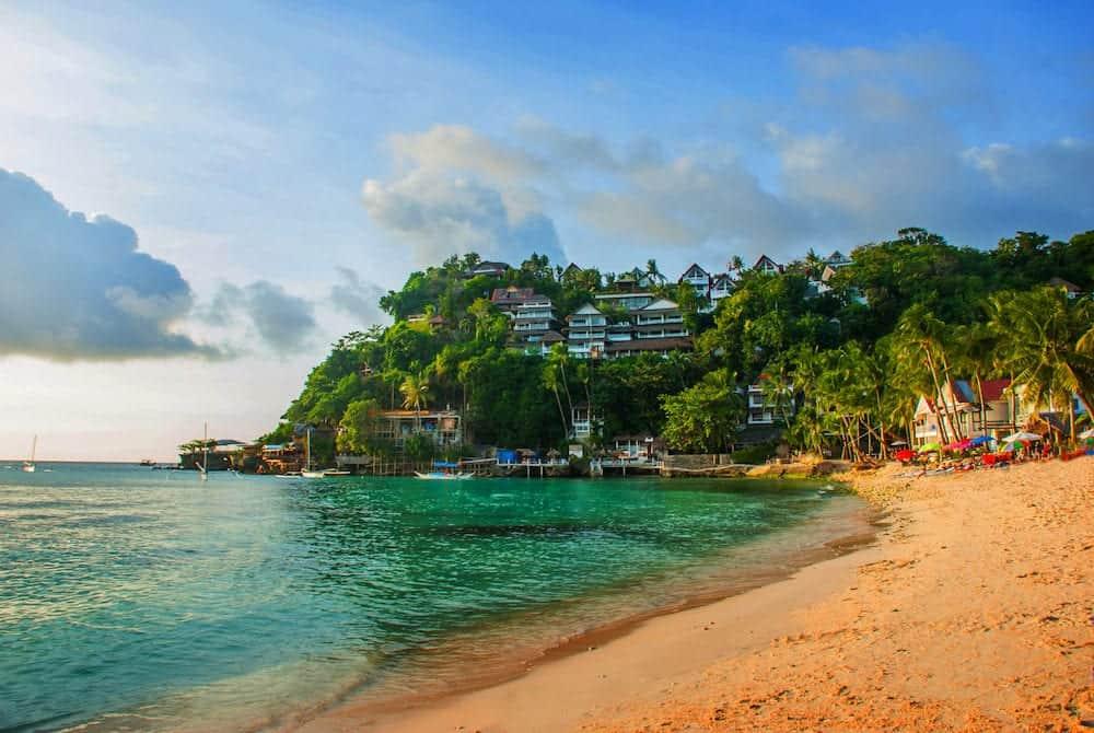 Beautiful tropical beach and sea. Boracay island Philippines
