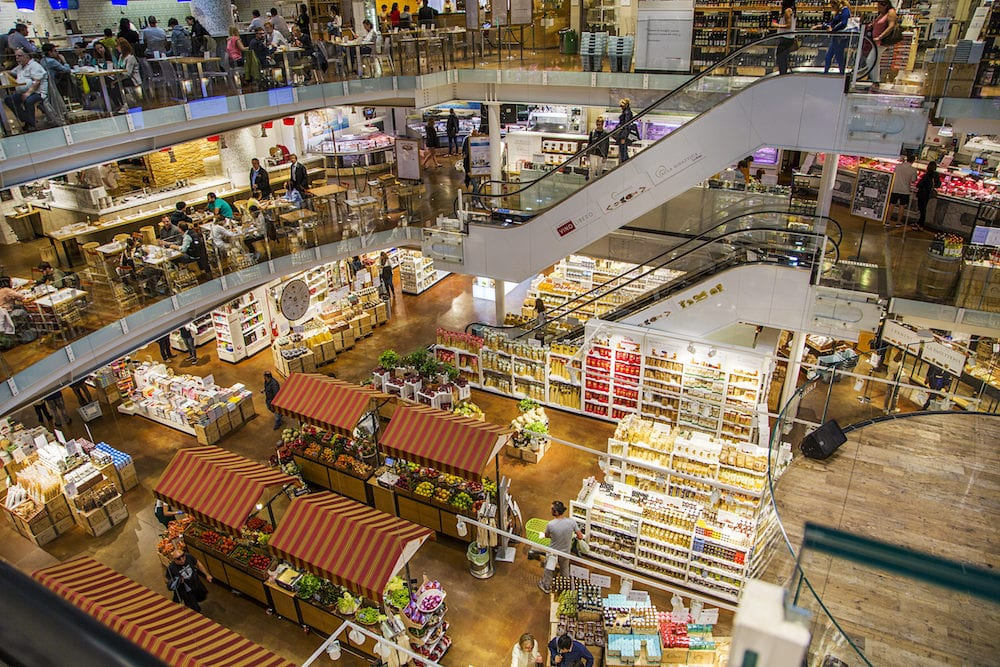 people at Eataly . It is the biggest food market in Chicago