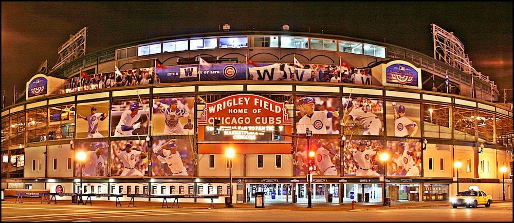 Wrigley Field,the home of the Chicago Cubs baseball team is shown in this view taken on one day after the season opener.