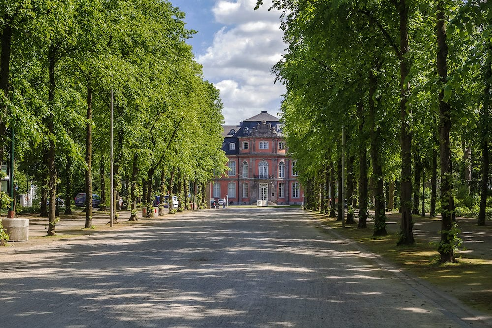 Goethe Museum is housed in 18th-century Schloss Jagerhof on northern edge of Hofgarten park Dusseldorf Germany