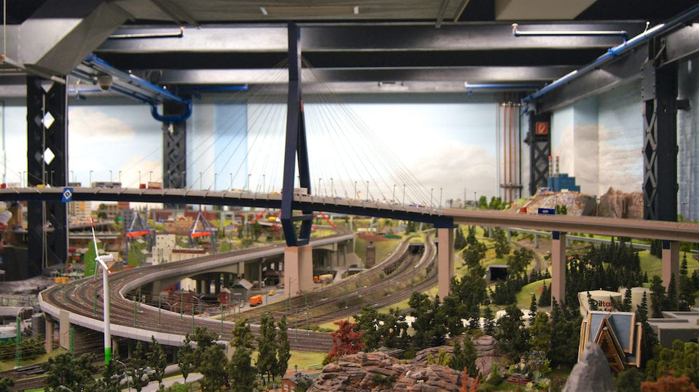 HAMBURG, GERMANY - Miniatur Wunderland is a model railway attraction and the largest of its kind in the world.
