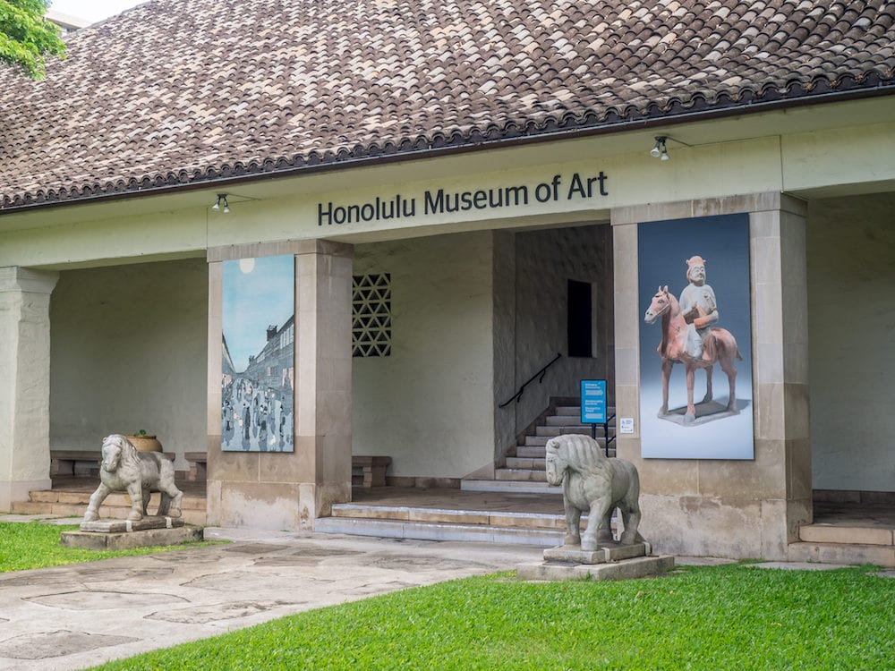 HONOLULU, HI : The Honolulu Museum of Art in Honolulu, Hawaii. The museum has one of the largest single collections of Asian and Pan-Pacific art in the United States.