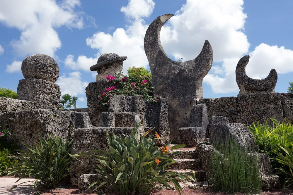 Coral Castle is a stone structure created by the Latvian American eccentric Edward Leedskalnin (1887-1951) north of the city of Homestead Florida in Miami-Dade County
