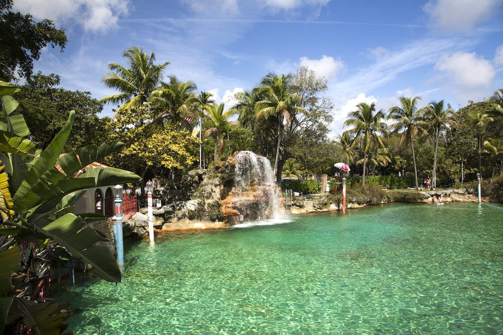 Miami, view of Coral Gable and Venetian Pool