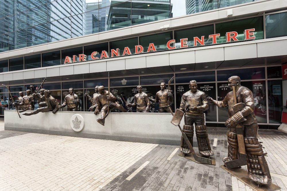 Toronto Canada - Legends row outside Air Canada Centre at Maple Leaf Square in Toronto Canada