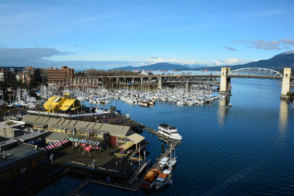 Vancouver BC,Canada. False Creek and Granville island in Vancouver is an awesome place for a visit when in this beautiful city.Come to Granville Island in Vancouver and explore and take home great memories.