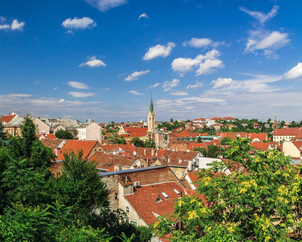 Landscape of a Kaptol cathedral in Zagreb