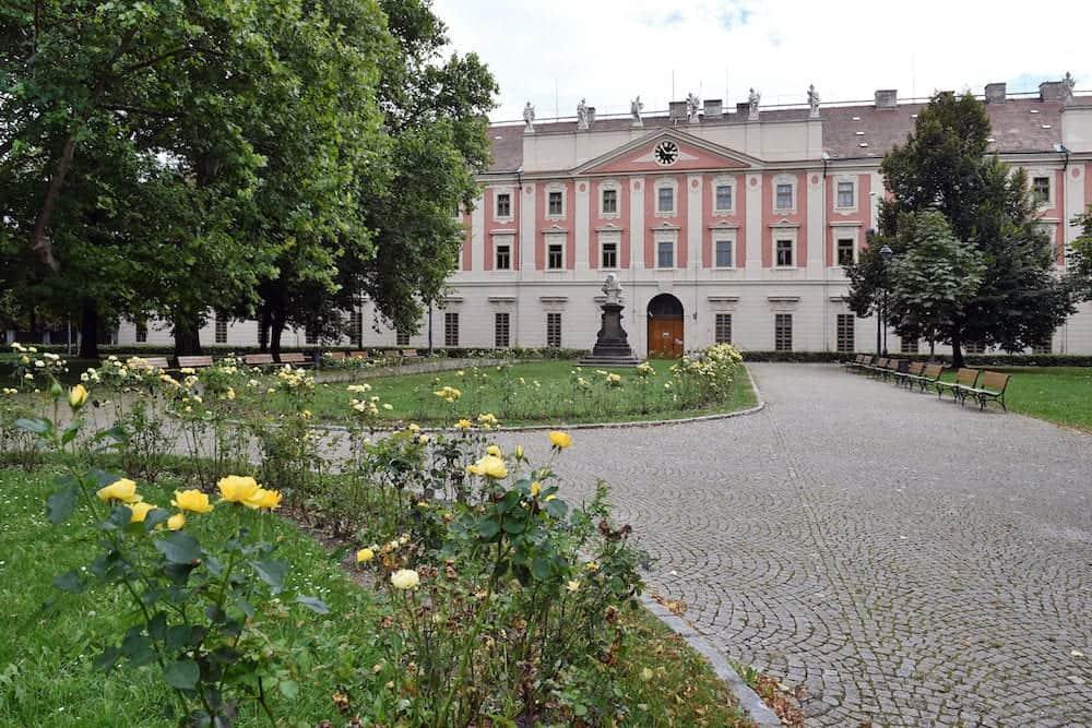 Building of Invalidovna in Karlin, Prague, Czech republic