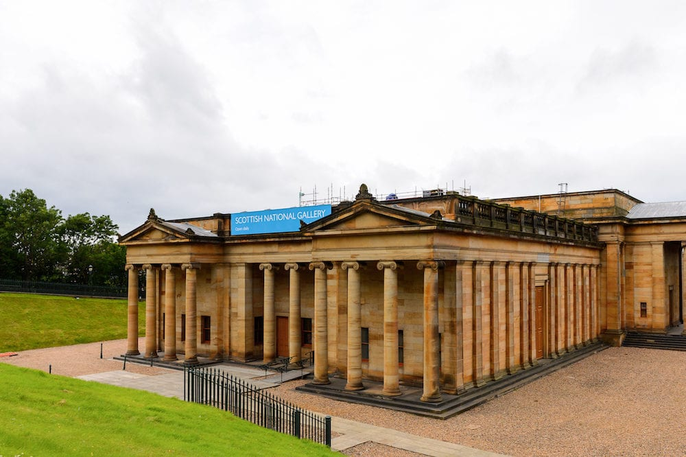 EDINBURGH SCOTLAND - Scottish National Gallery Edinburgh Scotland. It was designed by William Henry Playfair