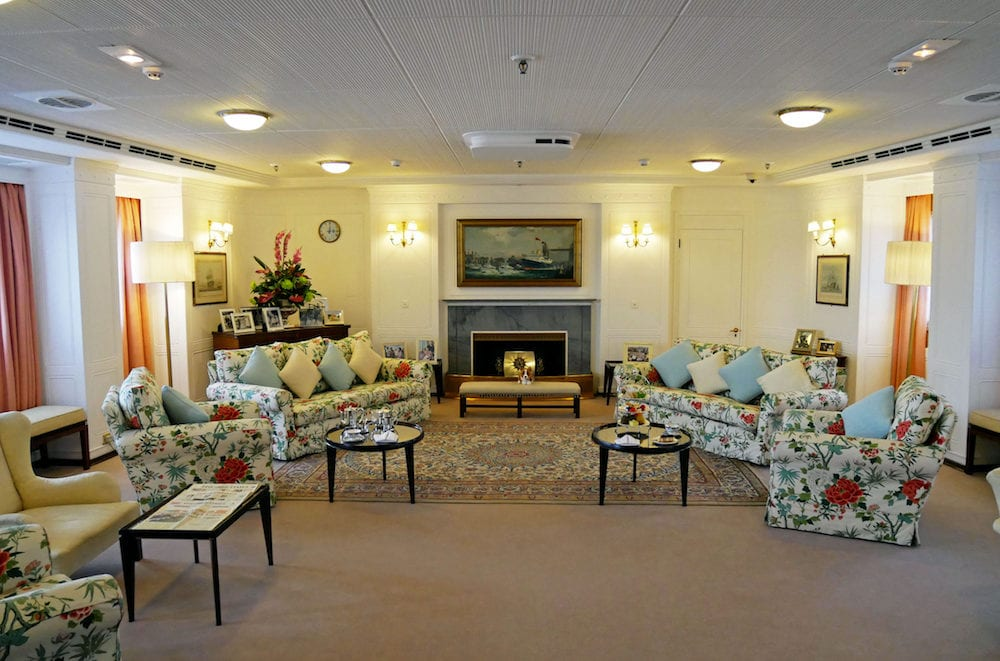 EDINBURGH, SCOTLAND - The Royal Yacht Britannia is now open to visitors at por of Leith Edinburgh, Scotland.