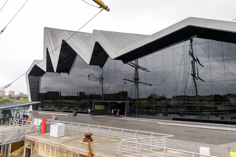 GLASGOW SCOTLAND - Riverside Museum (Glasgow Museum of Transport) Glasgow Harbour Scotland. It was established in 2011