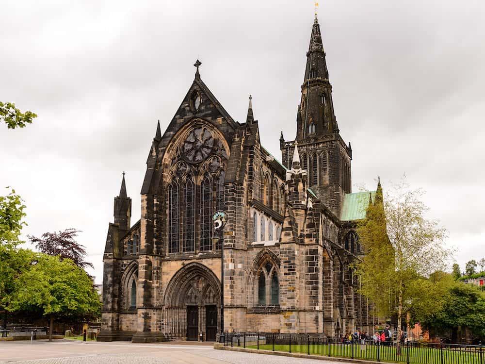 GLASGOW SCOTLAND - Glasgow Cathedral (High Kirk of Glasgow or St Kentigern's or St Mungo's Cathedral). One of the sights of Glasgow Scotland