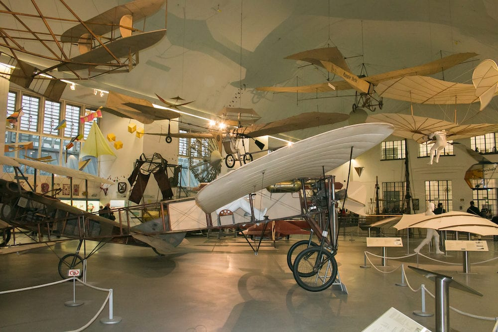 MUNICH, GERMANY - plane in the German Museum of Science and Technology or Das Deutsche museum in Munich, Bavaria, Germany