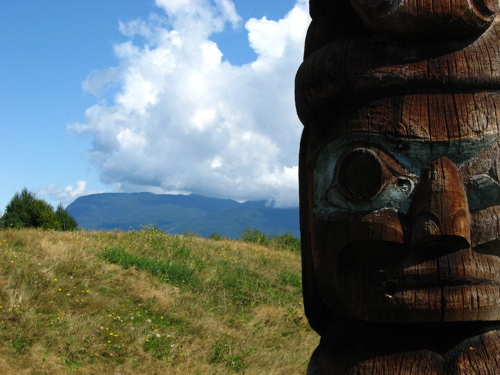 Totem taken at UBC Museum of Anthropology Vancouver Canada August 2008