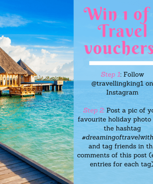 Win 1 of 3 Travel vouchers!