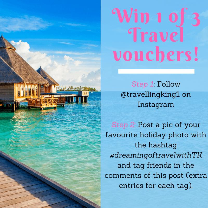Win 1 of 3 Travel vouchers!