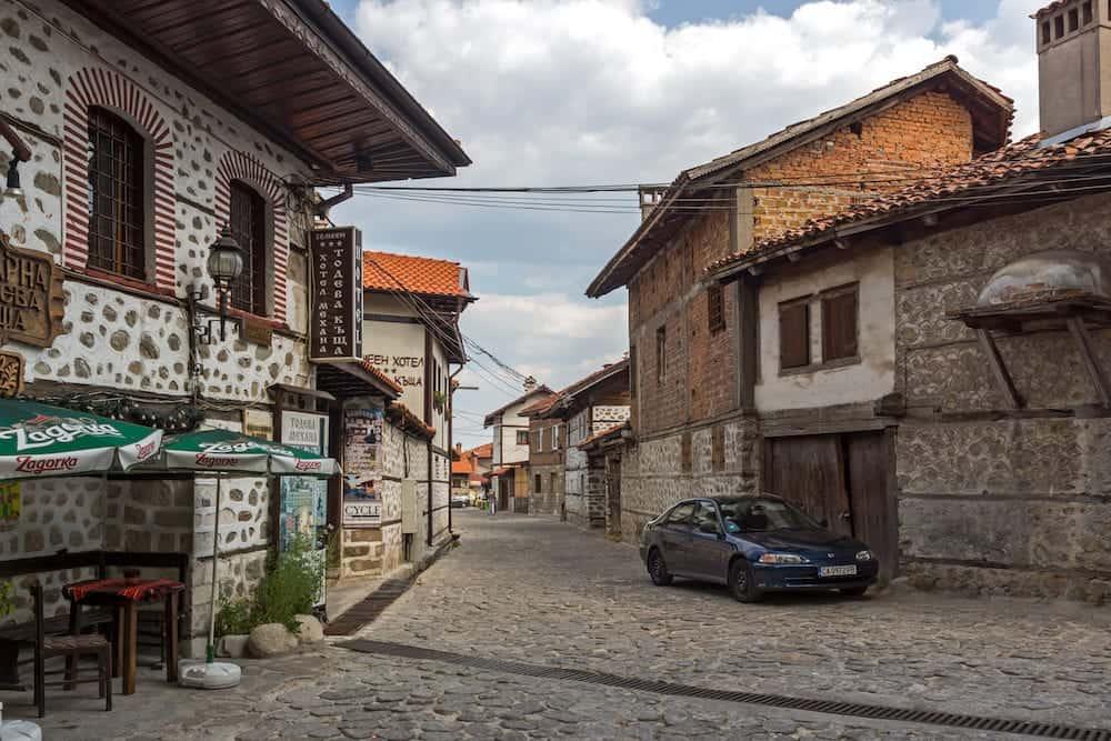 BANSKO, BULGARIA - Authentic nineteenth century houses in town of Bansko, Blagoevgrad Region, Bulgaria