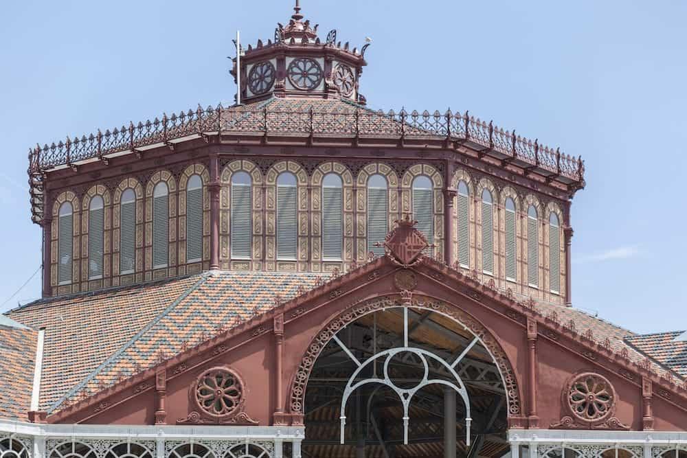 BARCELONA,SPAIN- Public market, building,Mercat Sant Antoni,Sant Antoni quarter,Eixample district,Barcelona.