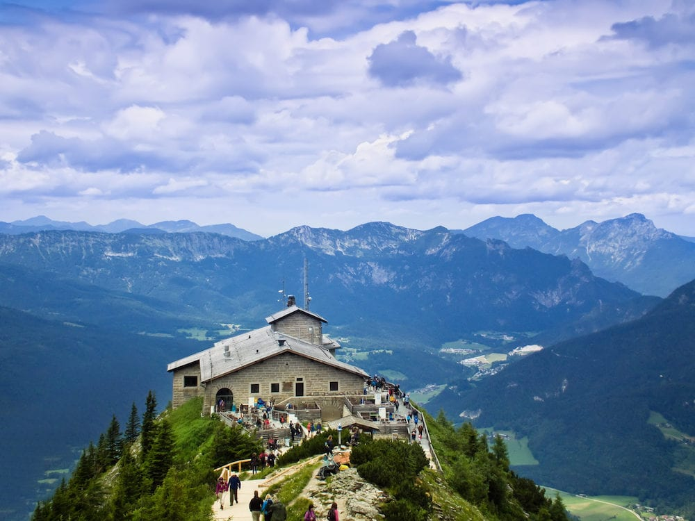 Bavaria, Germany -: Kehlsteinhaus. The Eagle's nest in the Bavarian Alps. Gift for the anniversary of Hitler