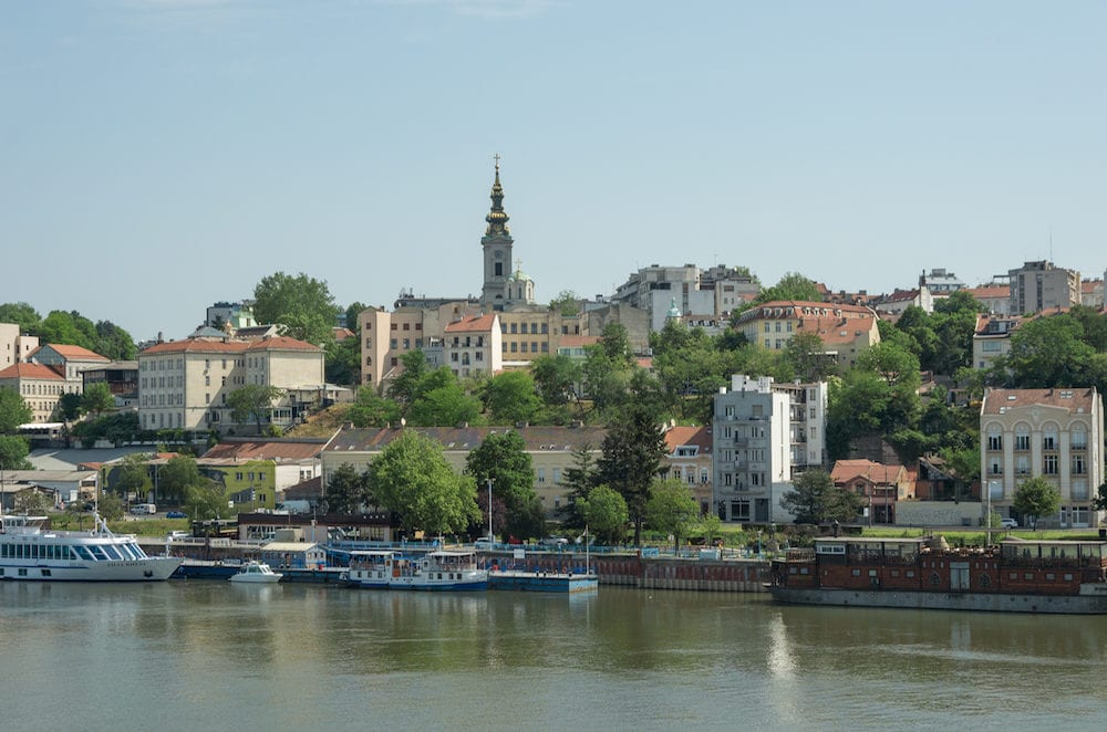 Belgrade, Serbia - Beautiful view of the historic center of Belgrade on the banks of the Sava River, Serbia