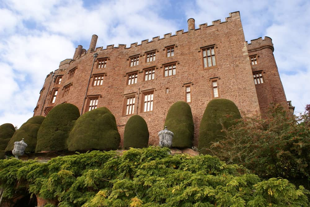 Powis castle is a medieval historical landmark in Welshpool, Wales, England.