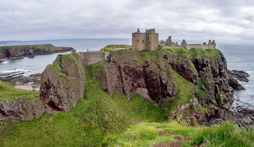 Ruins of Dunnottar Castle. Dunnottar Castle is a ruin of a castle in Aberdeenshire Scotland.