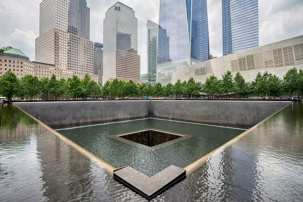 NEW YORK CITY - Memorial at World Trade Center Ground Zero The memorial was dedicated on the 10th anniversary of the Sept. 11, 2001 attacks.