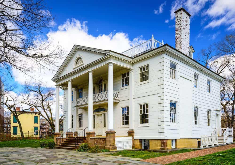 The historic Morris-Jumel Mansion in Washington Heights, New York, New York, USA.