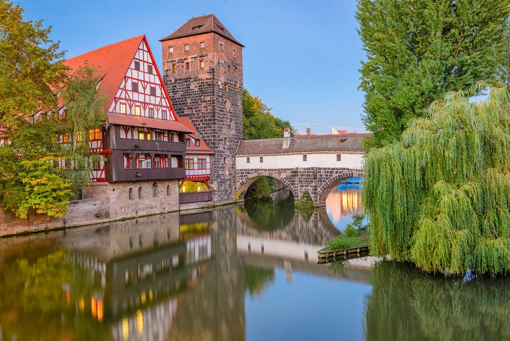 Nuremburg, Germany at Hangman's Bridge.