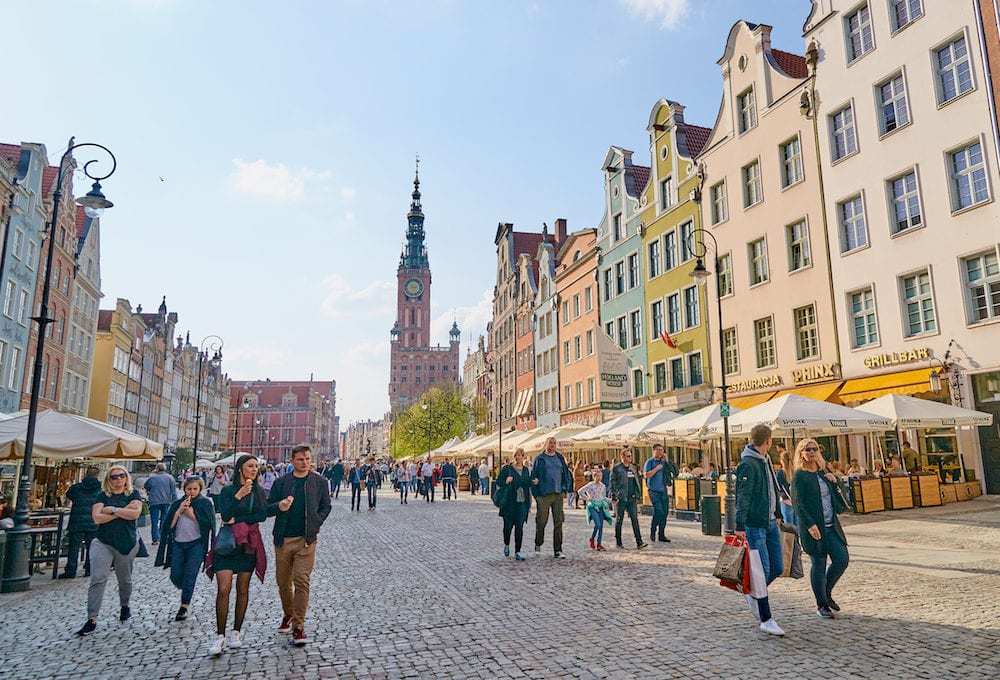 GDANSK, POLAND - Town in Gdansk, Poland. In the Main Town Hall, there is the Historical Museum of the City of Gdansk.