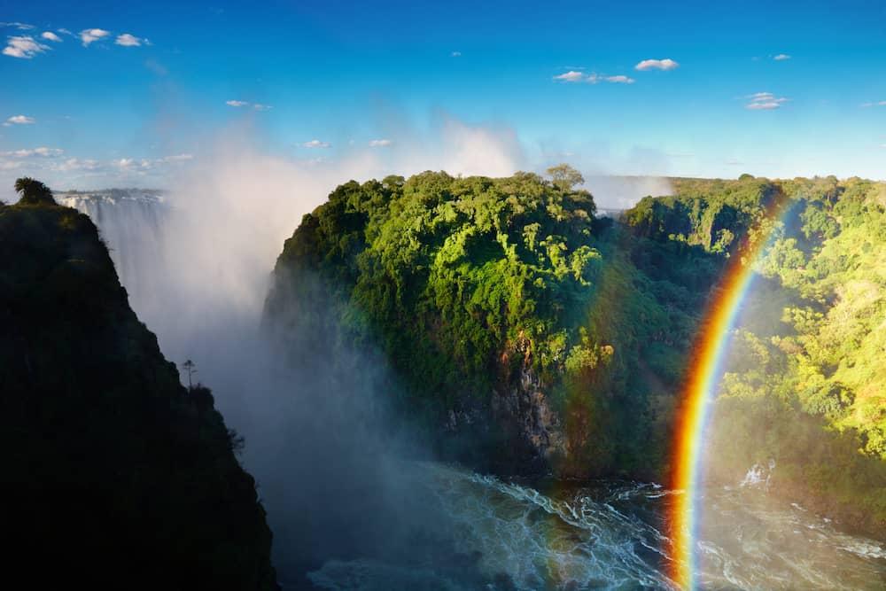 Zambezi river and Victoria Falls, Zimbabwe, Africa