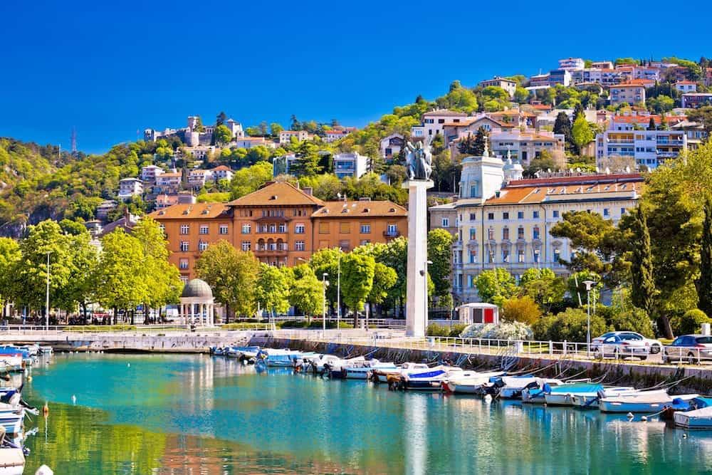 City Of Rijeka Delta And Trsat View