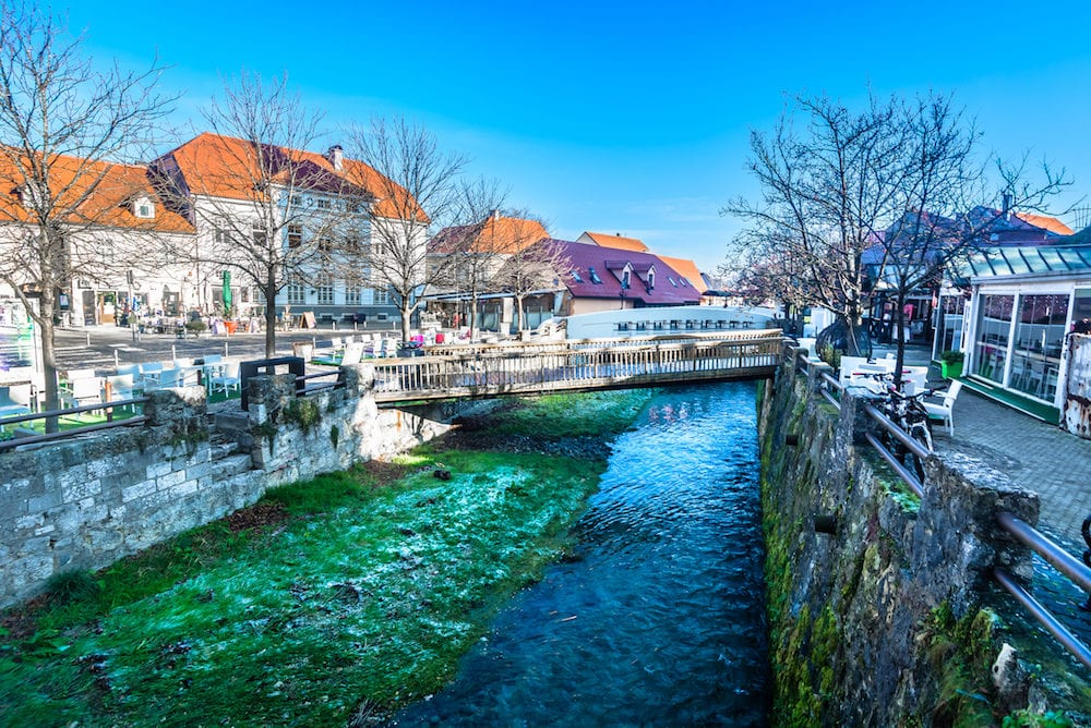 Scenic view at Samobor scenery in Northern Croatia, suburb of Zagreb town.