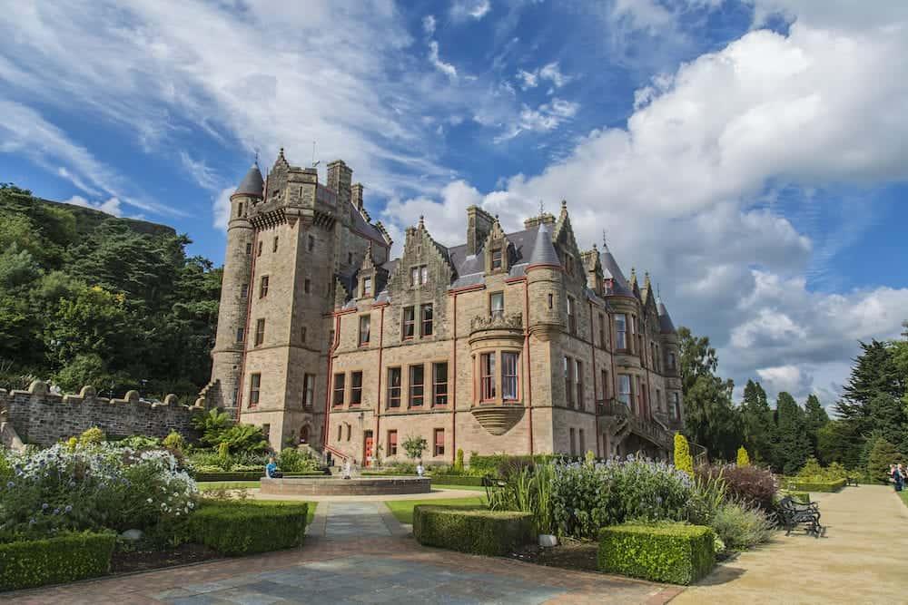 BELFAST, NORTHERN IRELAND, UK -: Belfast castle. Tourist attraction at Cavehill Country Park in Belfast Northern Ireland