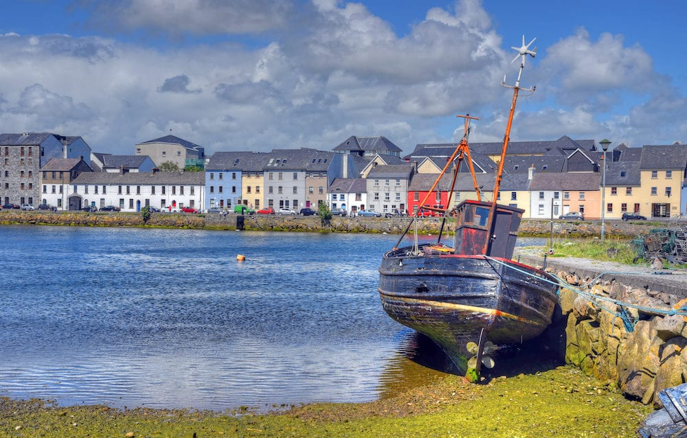 The Claddagh Galway on Galway Bay in Galway, Ireland.
