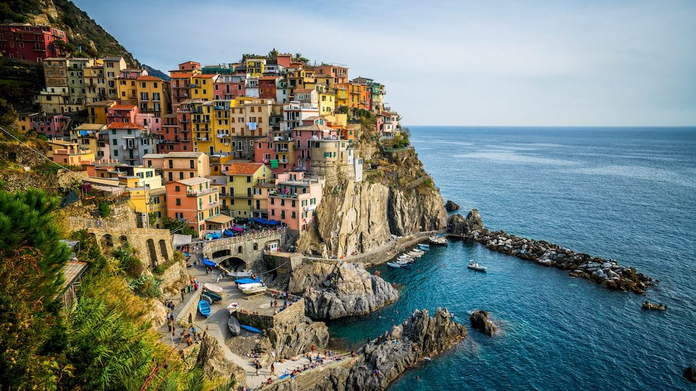 Manarola Village, Cinque Terre Coast of Italy. Manarola is a beautiful small town in the province of La Spezia, Liguria, north of Italy.