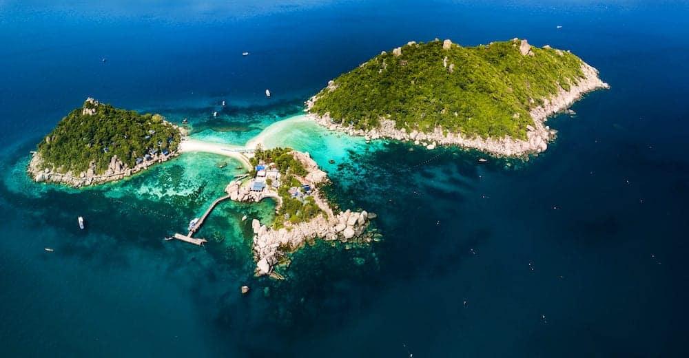 Koh NangYuan Island off of Koh Tao, Thailand