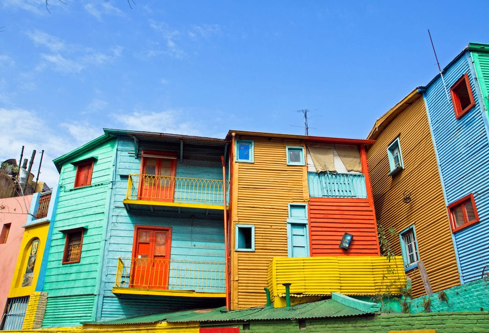 The colourful buildings of La Boca in Buenos Aires