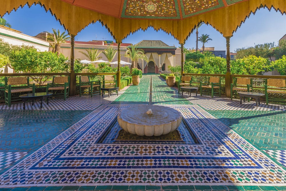Le Jardin Secret, Marrakech, Morocco - : Le Jardin Secret, old Medina, Marrakech, Morocco.