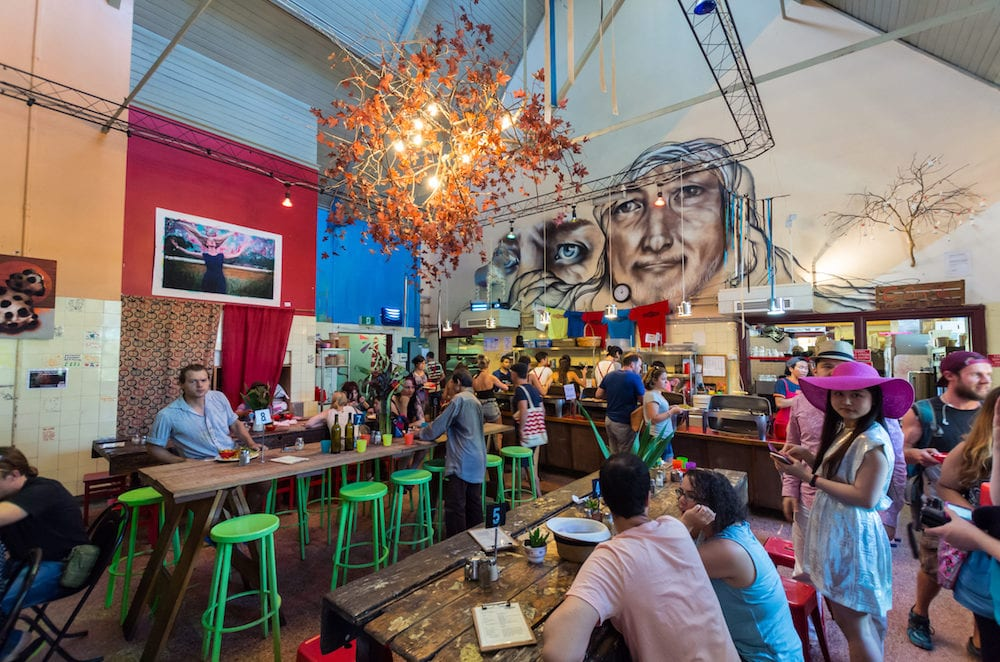 Melbourne, Australia - : Lentil As Anything is a social enterprise vegetarian restaurant at Abbotsford Convent in inner city Melbourne.