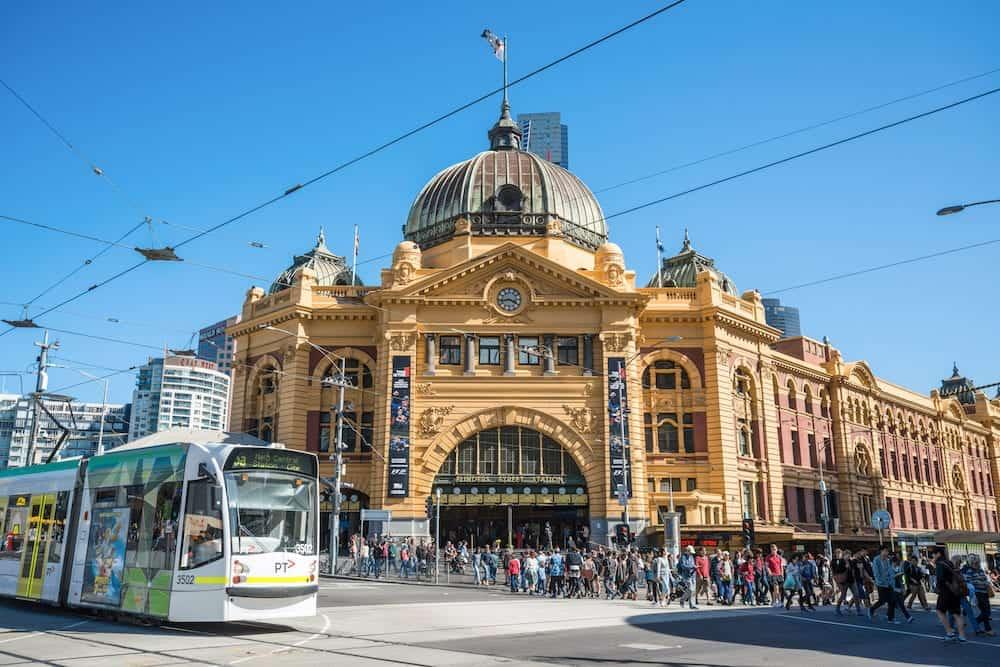 Melbourne, AUSTRALIA - : Flinders street station the iconic landmark of Melbourne, Australia.