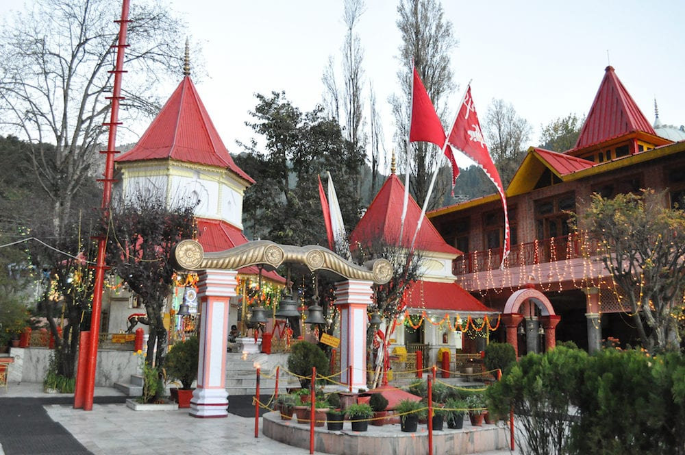 Naina Devi Temple early in the morning on Diwali festival day is devoted to Naina Devi is situated right on Naini Lake near Flat at Mallital, Nainital, Uttarakhand, India. Nainital is a popular hill station in Uttarakhand, named after t