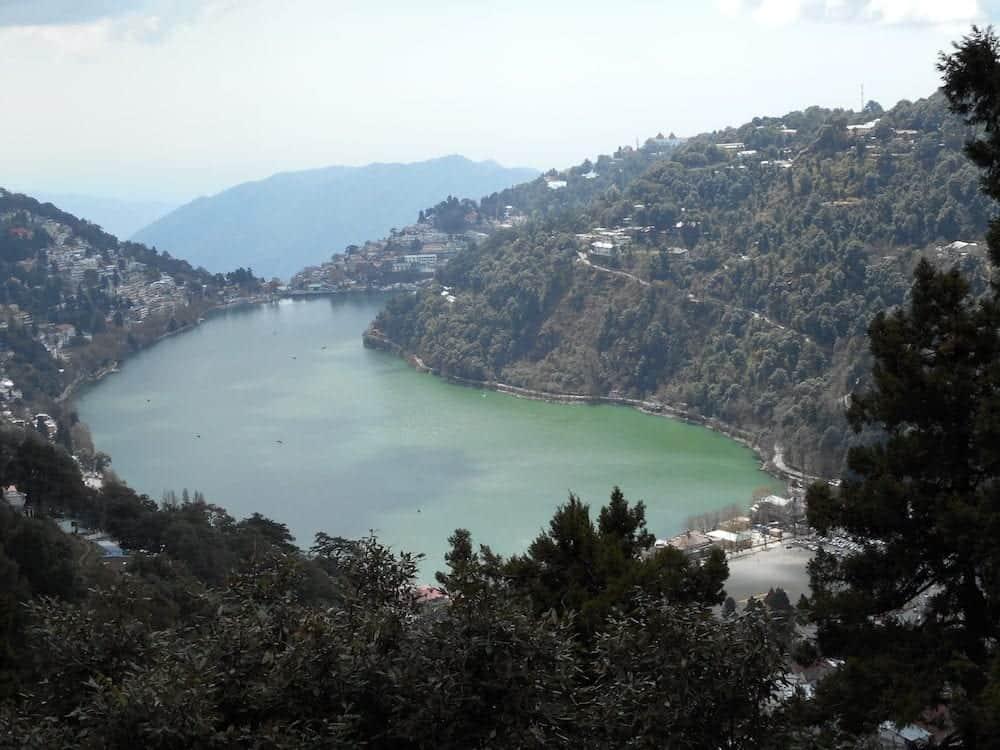 Nainital in India, Excellent View of Lake, Ancient Vedic Age Lake in Uttarakhand State, Natural Lake, Beautiful Hills, Kumaun region, Kumaon Hills, Panoramic India, Incredible India