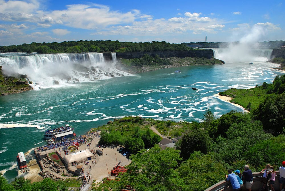 Niagara Falls American and Canadian falls US Canada