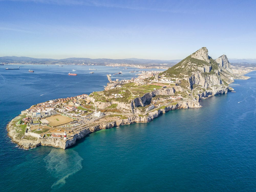 Famous Gibraltar rock on overseas british territory, Gibraltar, Iberian Peninsula, Europe