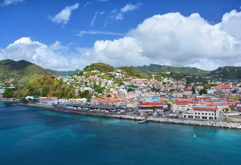 Saint George city port in Grenada Caribbean