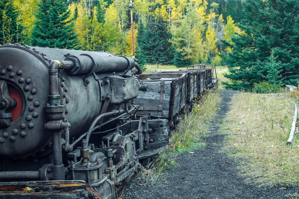 Lower Bankhead, coal mine ghost town, Banff National Park, Alberta, Canada