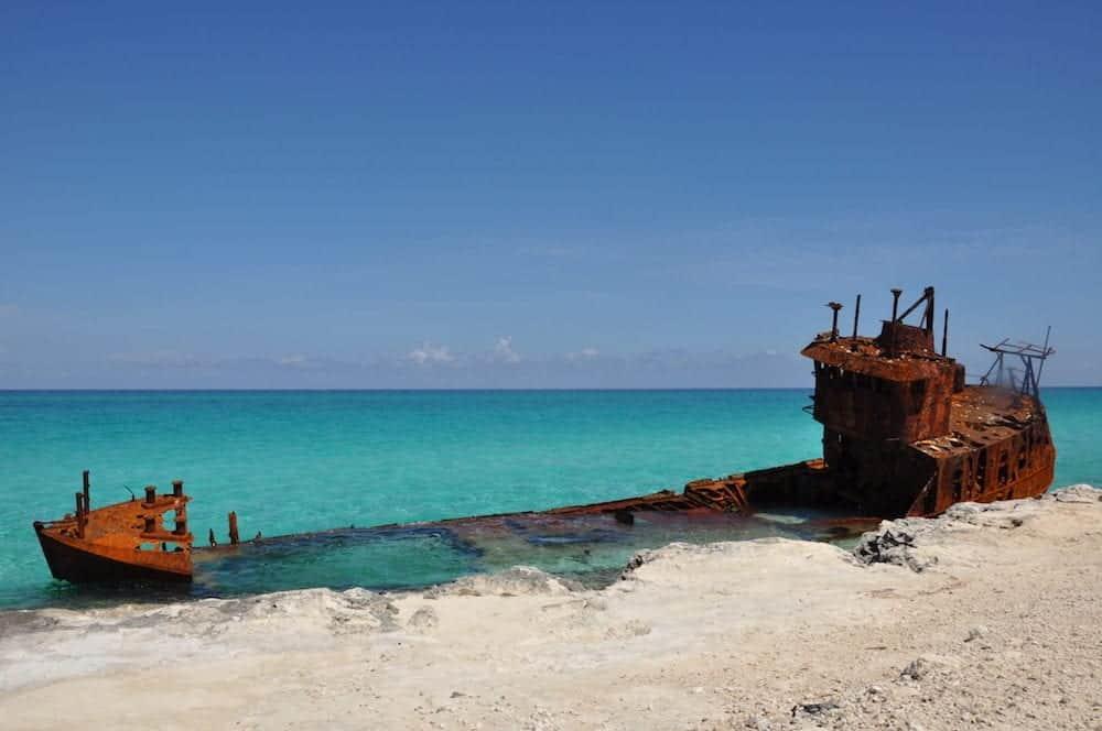 A wreak off of North Bimini Bahamas.